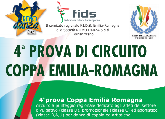 COPPA EMILIA 4 PROVA | ISCRITTI E TIME TABLE