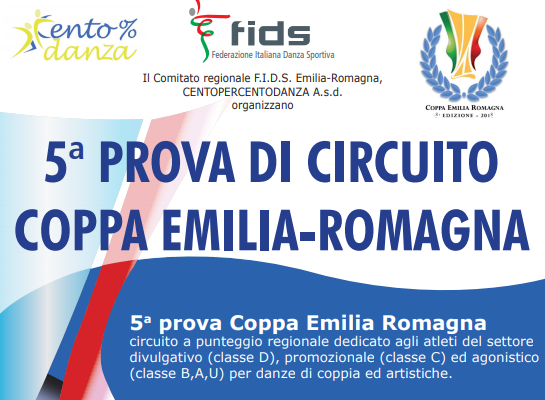 COPPA EMILIA 5° PROVA| TIME TABLE