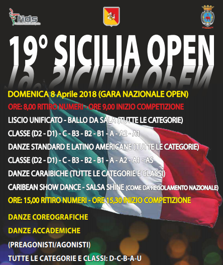 SICILIA OPEN|TIME TABLE