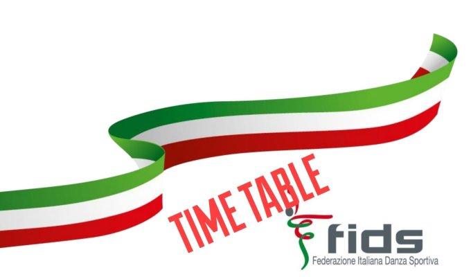 CAMPIONATI ITALIANI FIDS | TIME TABLE 13/15LUGLIO